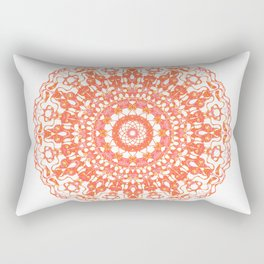 Mandala 12 / 2 eden spirit orange Rectangular Pillow
