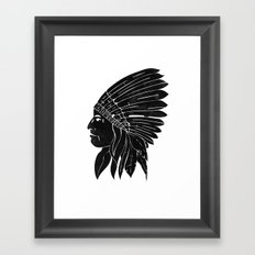 Chief / Black Edition Framed Art Print