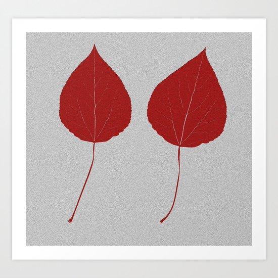 Leafs rouge Art Print
