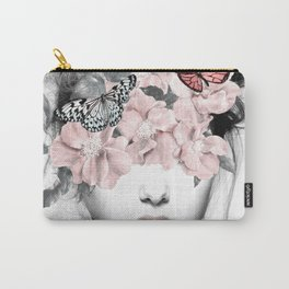 WOMAN WITH FLOWERS 10 Carry-All Pouch