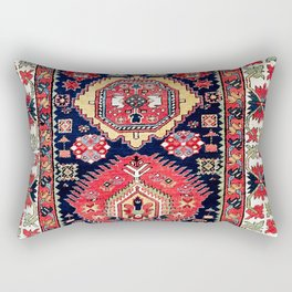 Afshar Kerman South Persian Rug Print Rectangular Pillow