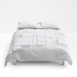 White tiles Comforters