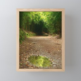 Puddle of water Framed Mini Art Print
