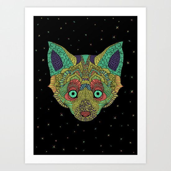 Intergalactic Fox Art Print