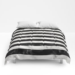 Black and White Marble Stripes Comforters