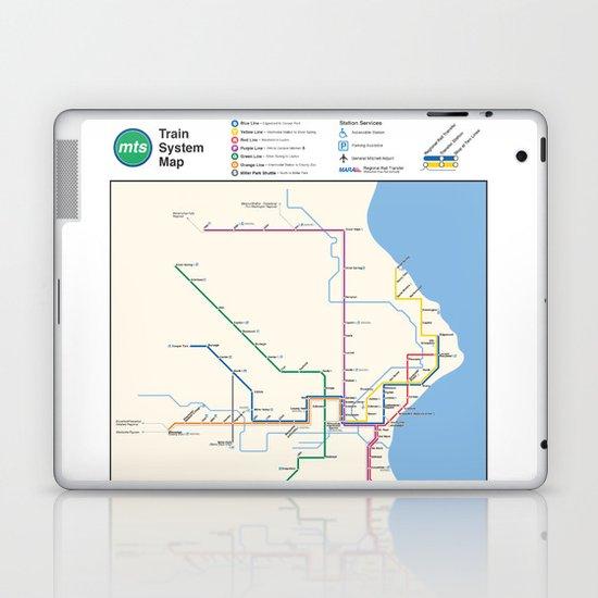 Milwaukee Transit System Map Laptop & iPad Skin