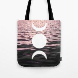 Moon at Sunset Tote Bag