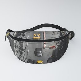 Yellow Cab from Above - Original #society6 exclusive Fanny Pack
