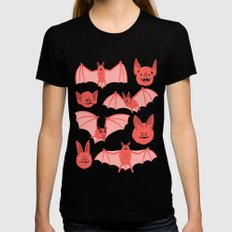 Bats SMALL Black Womens Fitted Tee