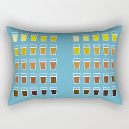 The Colors of Beer Rectangular Pillow