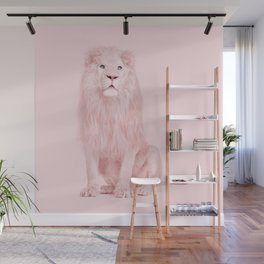 PINK LION Wall Mural
