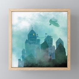 Foggy Night Framed Mini Art Print