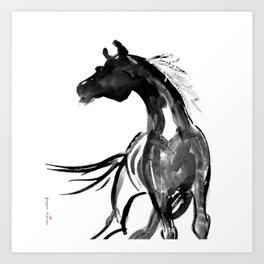Horse (Ink sketch) Art Print