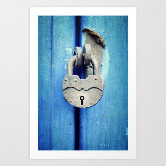 Unlock my fears Art Print