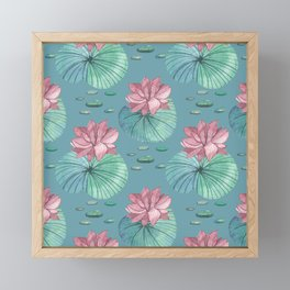 LOTUS FLOWERS Framed Mini Art Print