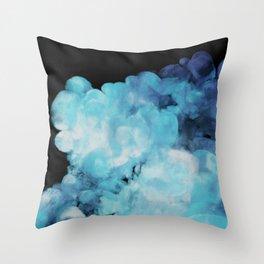 Blue smoke Throw Pillow
