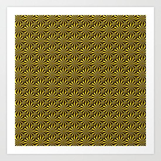 Yellow/Black Art Print