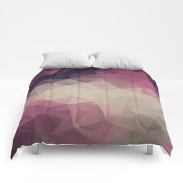 Polygon pattern . Triangles with a texture craquelure . Comforters