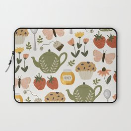 Afternoon Tea Time in the Garden Laptop Sleeve