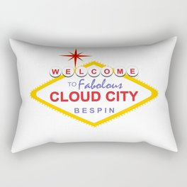 Welcome to Cloud City Rectangular Pillow