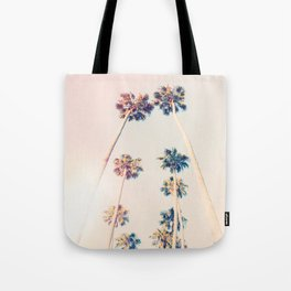 Vintage Pastel Palm trees Tote Bag