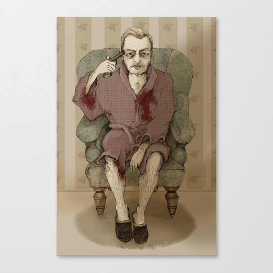 In bathrobe Canvas Print