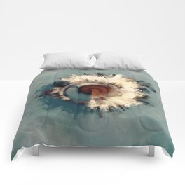 Abstract Coastal Town Comforters