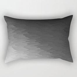 Dark Gray Texture Ombre Rectangular Pillow