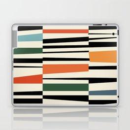 MCC Oddities II - Mid Century Modern Geometric Abstract - Blue Orange Yellow Red Laptop & iPad Skin