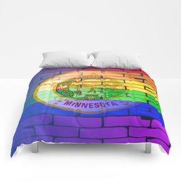 Rainbow Wall Minnesota Comforters