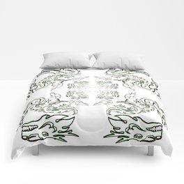 die liebe zu den Drachen - der Drachenschutz the love of the dragon the dragon protection (A7 B0037) Comforters