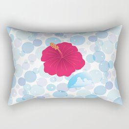 Hibiscus and Thunderhead reflected on the bubble_R Rectangular Pillow