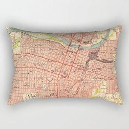 Vintage Map of Topeka Kansas (1951) Rectangular Pillow