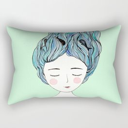 Dreaming of whales Rectangular Pillow