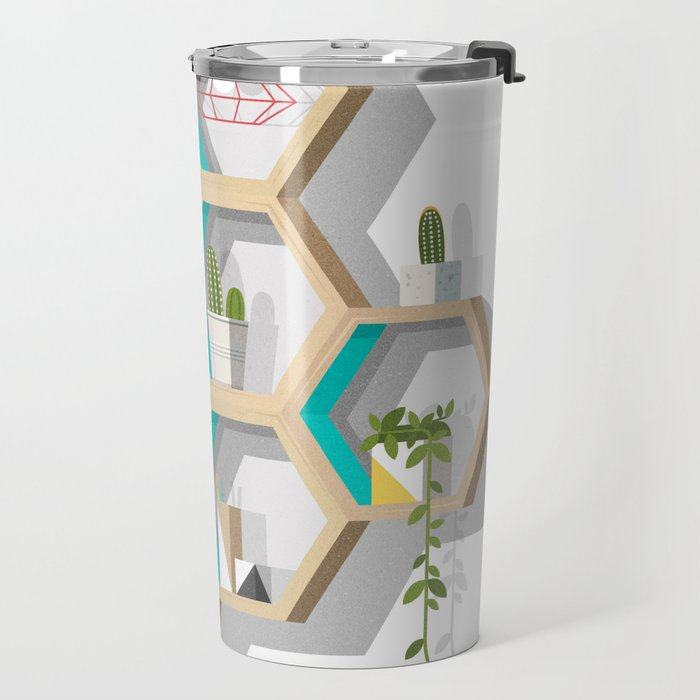 House Plant Shelves Travel Mug