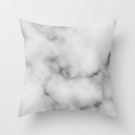 White Marble Pattern Throw Pillow