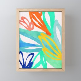 floral abstract Framed Mini Art Print