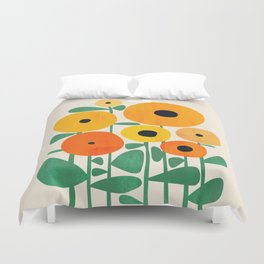 Sunflower and Bee Duvet Cover