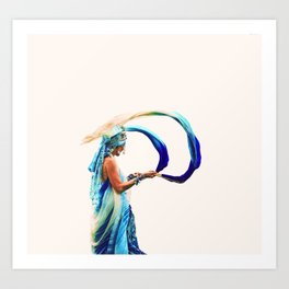 Lady at Protest Art Print