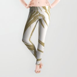 Gold Palm Leaves Dream #1 #tropical #decor #art #society6 Leggings