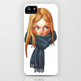 Blonde with Scarf iPhone Case