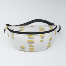 Yellow & Grey Seamless Pattern Fanny Pack