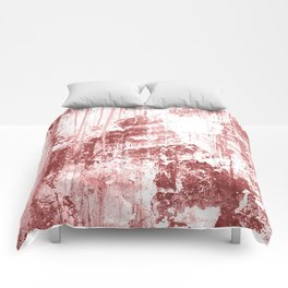 Grungy Wall,rusty red Comforters