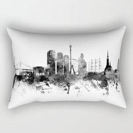 Gothenburg Sweden Skyline Rectangular Pillow