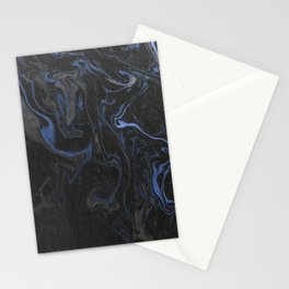 marble black and blue texture Stationery Cards