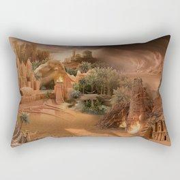 Desert paradise on the edge of Hell - Sandstorm Rectangular Pillow