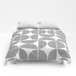 Mid Century Modern Geometric 04 Grey Comforters