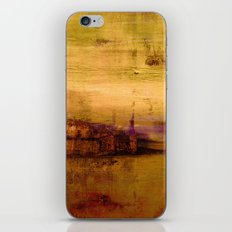 golden abstract landscape iPhone & iPod Skin
