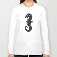 sea horse Long Sleeve T-shirts featuring SEA HORSE by Matthew Taylor Wilson