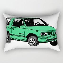 Retro 80s Truck / SUV Rectangular Pillow